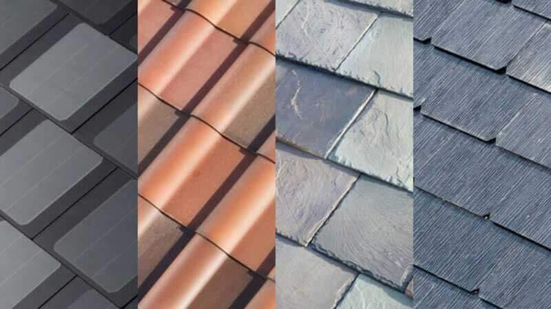 Vier soorten dakpannen van Tesla