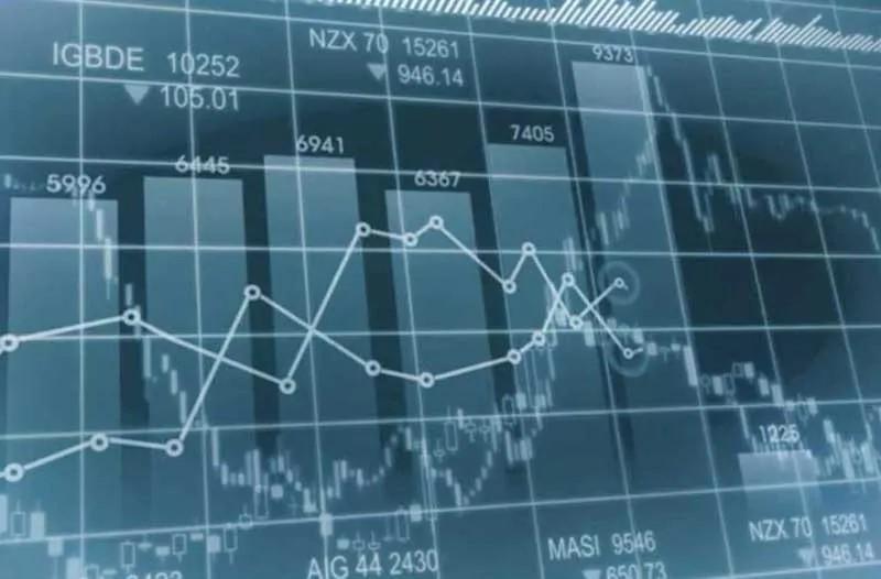 Een infographic met beursstatistieken